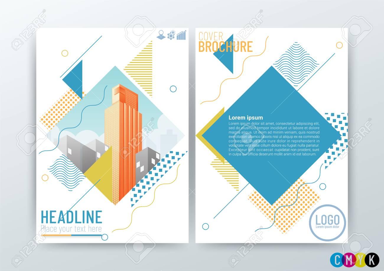 abstract modern business background design creative brochure