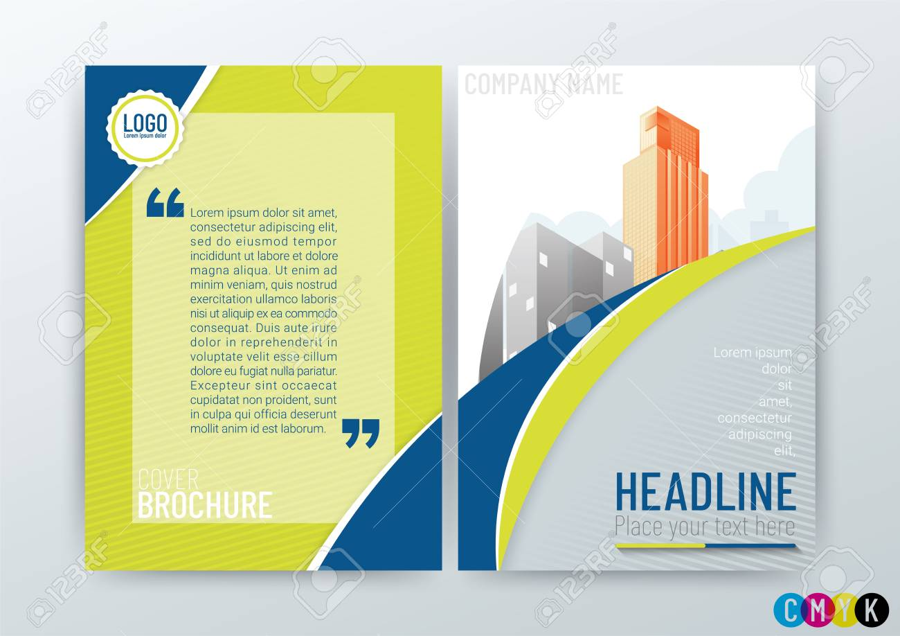 abstract modern business background design creative brochure