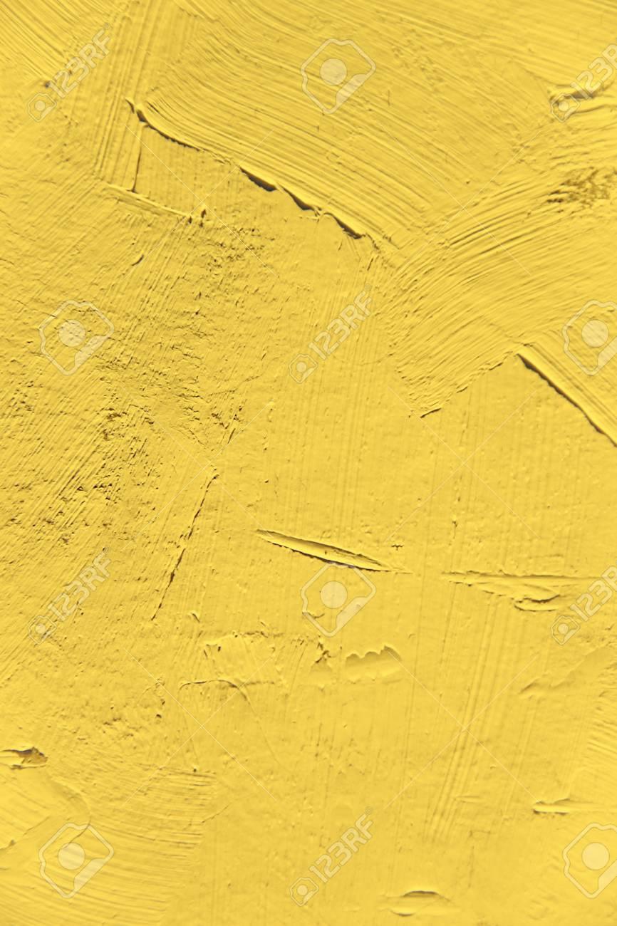 絵画のクローズ アップのテクスチャです。プレーン ライト オレンジ色