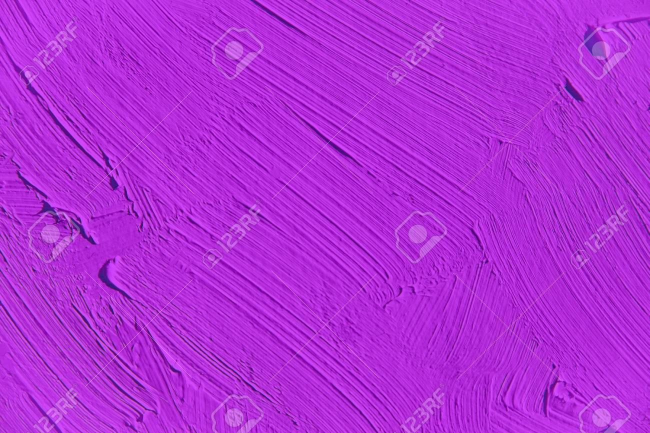 Peinture De Près De Couleur Pourpre Vif, Texture De Traits De