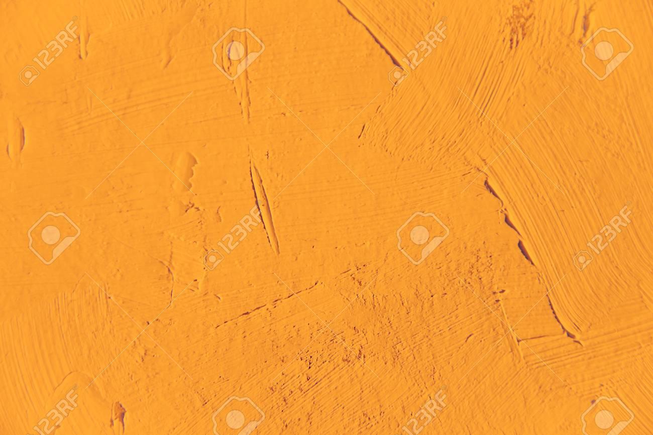 Peinture De Texture De Gros Planplain De Fond De Couleur Orange