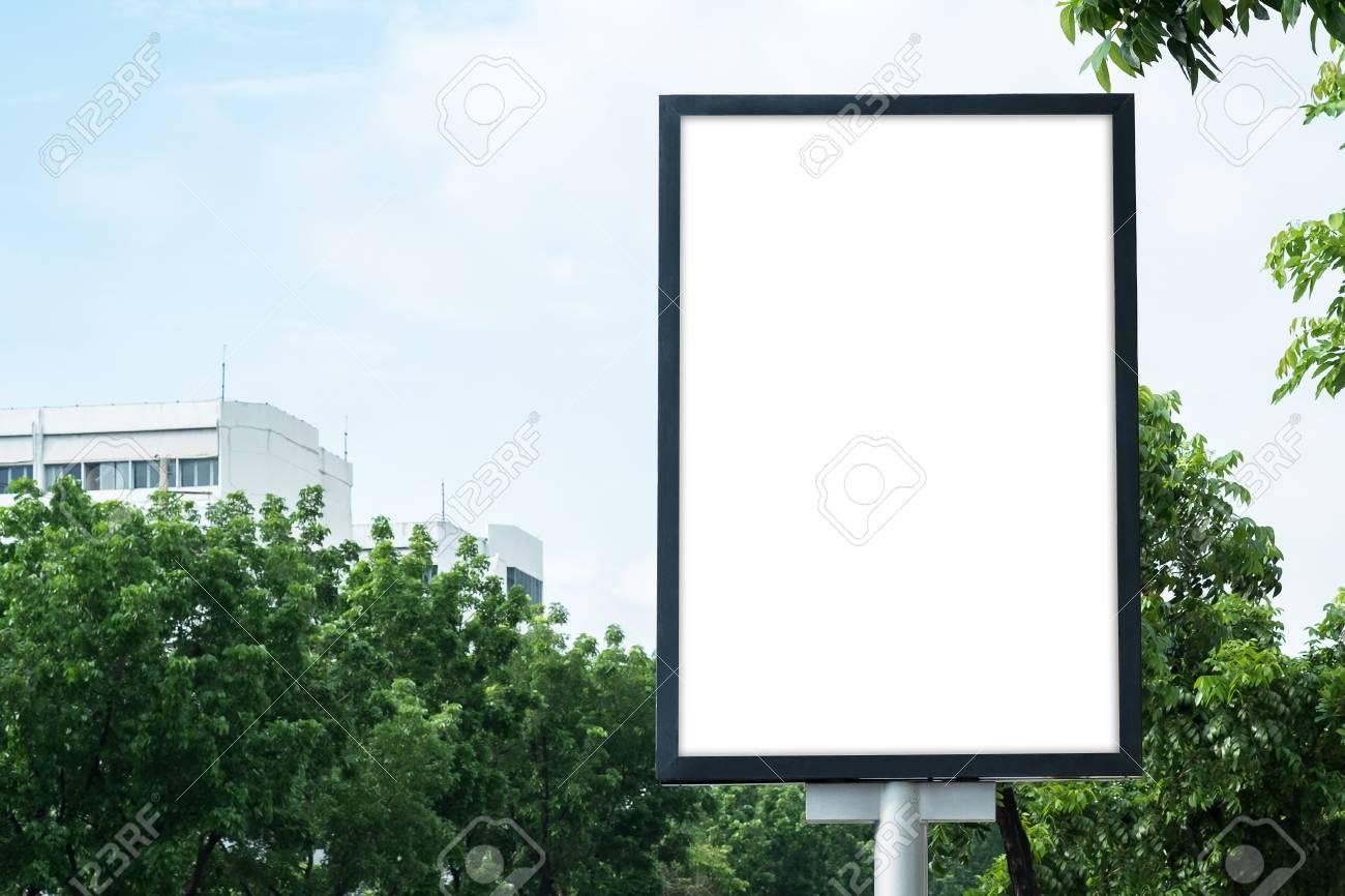 Affiche Blank Template Mockup Avec Chemin De Detourage Banque D