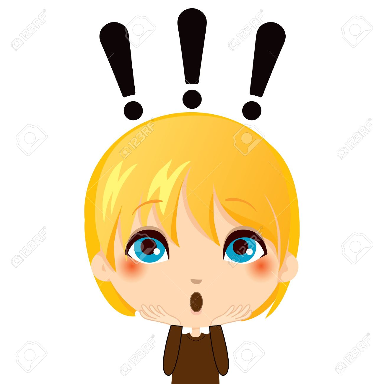 12 388 surprised face stock vector illustration and royalty free rh 123rf com Surprised Woman Clip Art Surprised Woman Clip Art