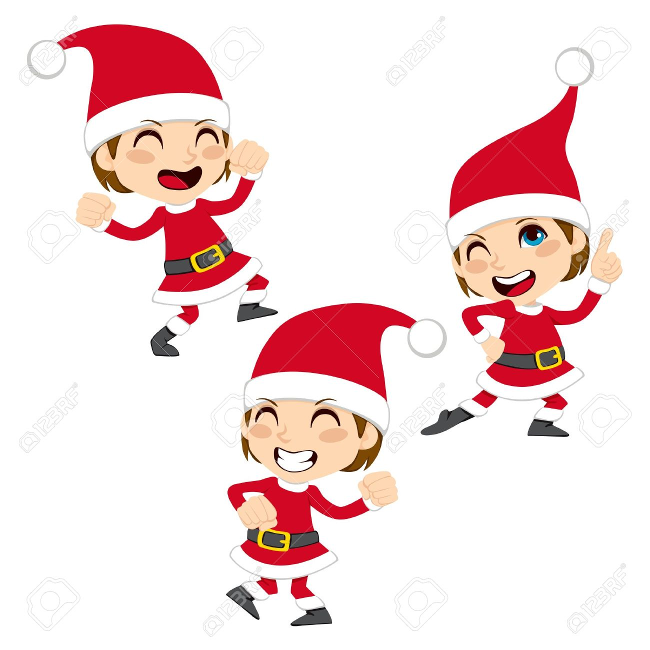 Christmas Dancing Santa.Cute Little Boy Happy Dancing Santa Claus Christmas Dance