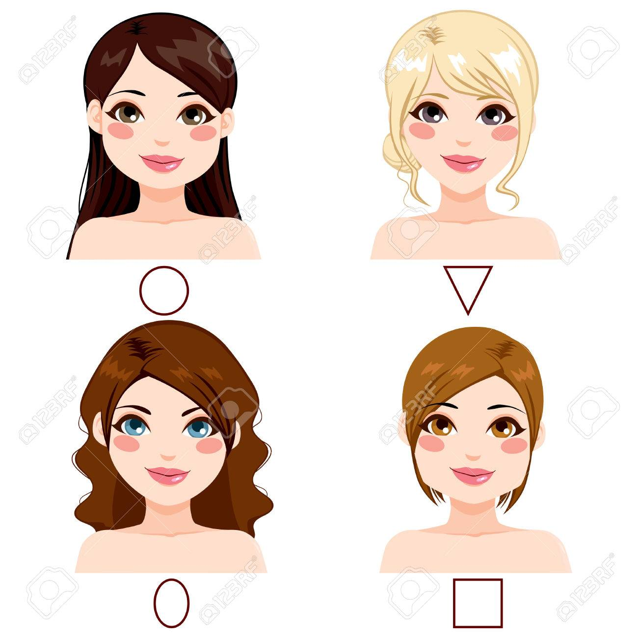 Tremendous Different Women With Different Face Shape Types And Hairstyles Hairstyles For Women Draintrainus