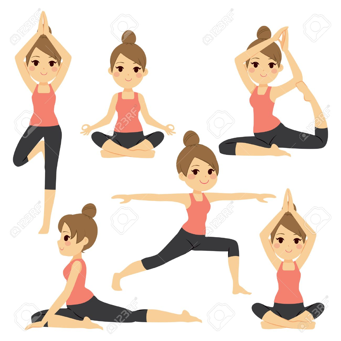 Image result for cartoon images of various exercise