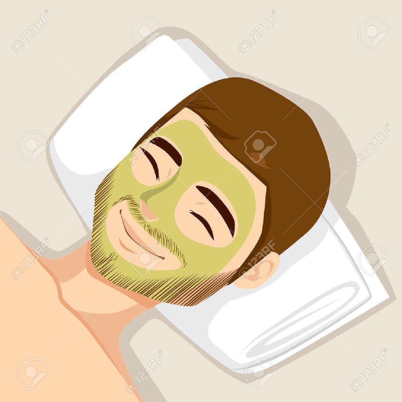 顔の皮膚をきれいにする自然なグ...