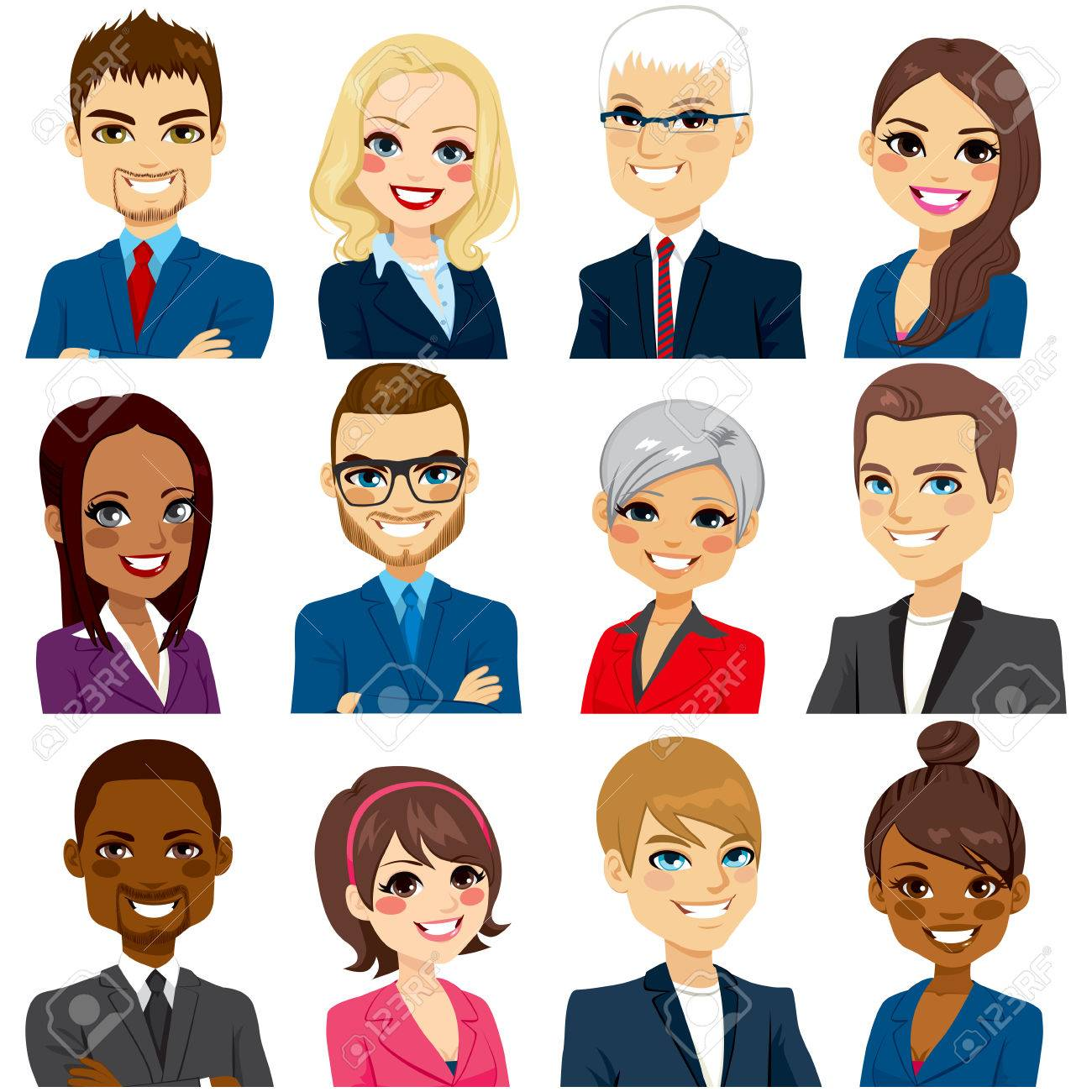 Set of business people avatar collection of workers team - 59200780