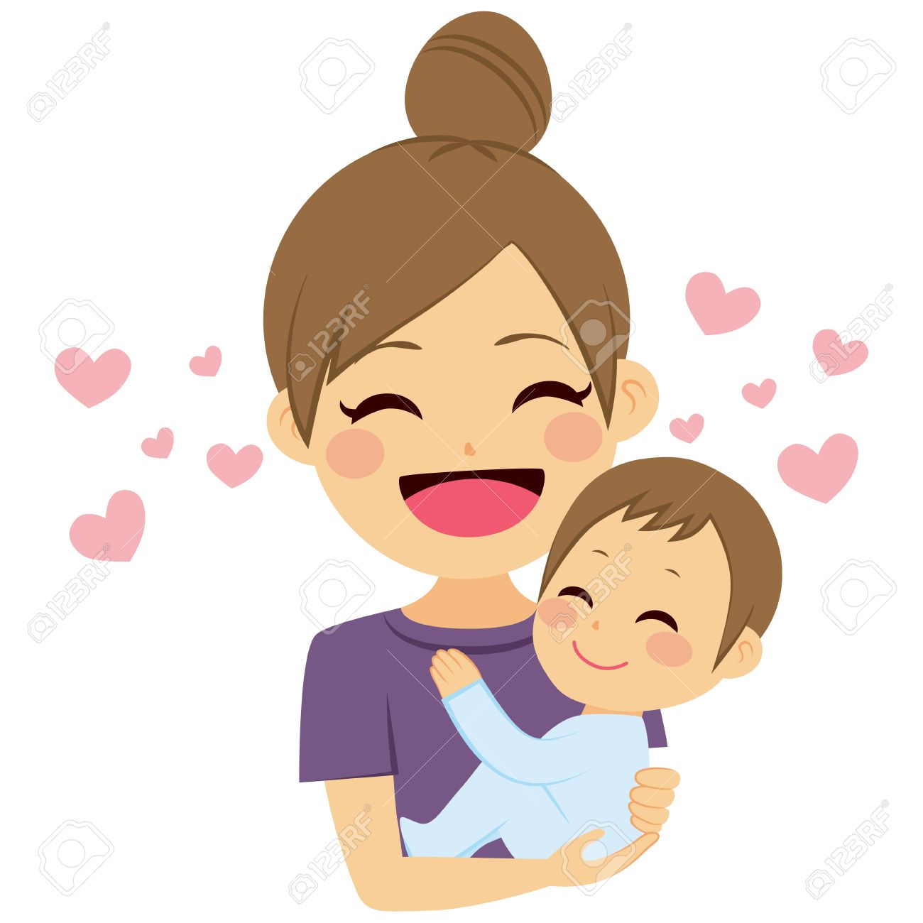Beautiful young mother hugging little toddler son with love - 64731123