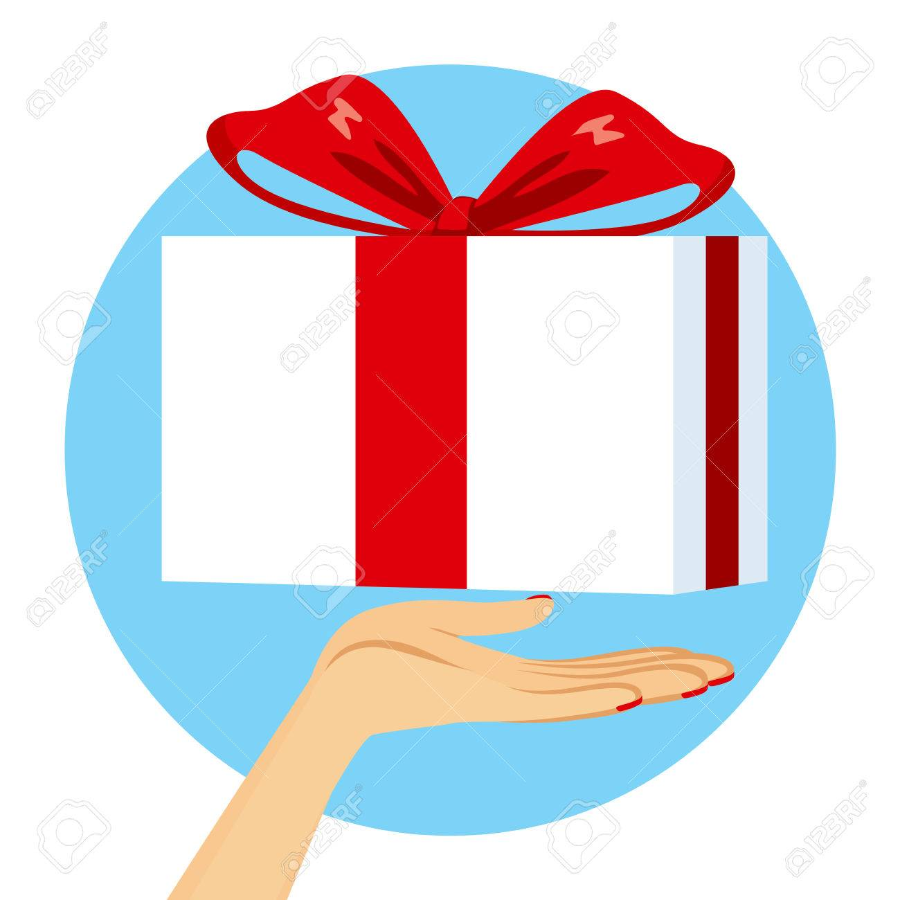 Close up illustration of female hand with gift giving concept close up illustration of female hand with gift giving concept stock vector 65459043 negle Choice Image