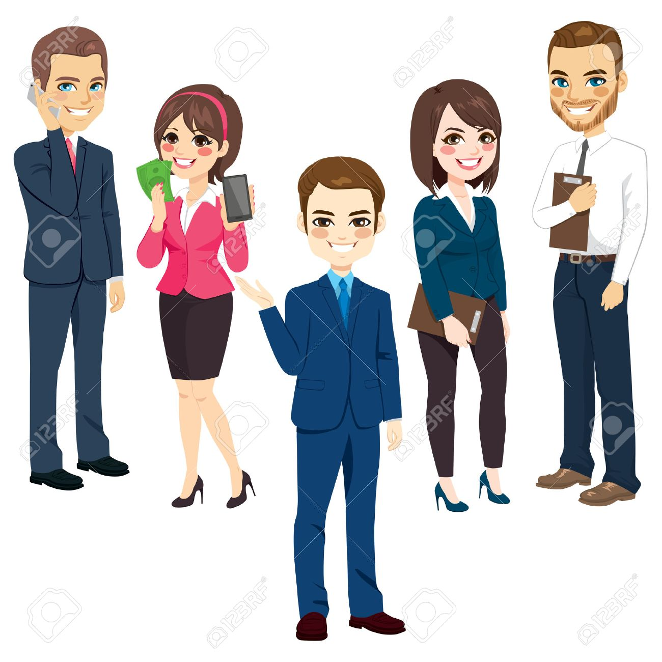 Group of men and women business people standing team concept - 67972344