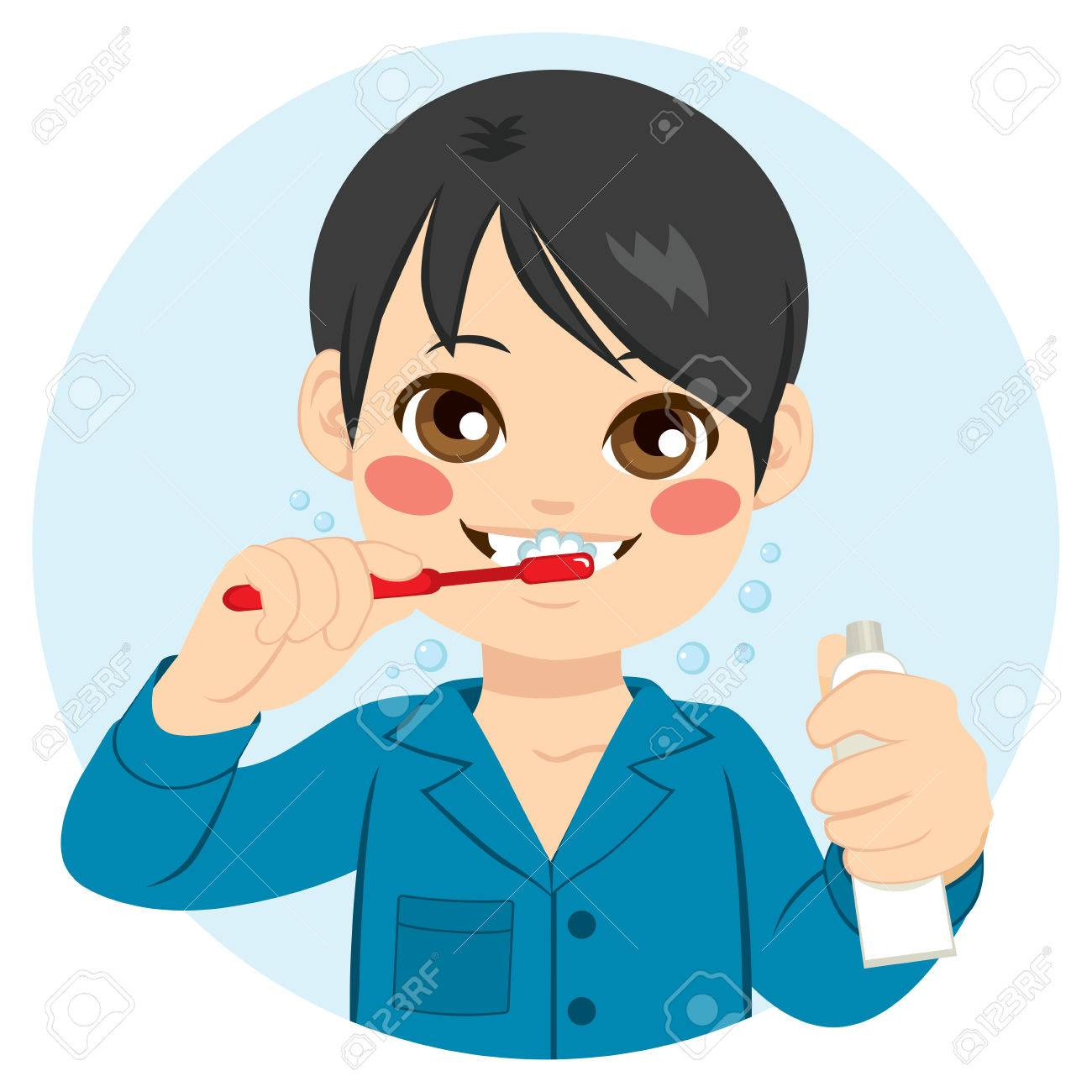 Vector illustration of Toothbrush and toothpaste cartoon   Brushing teeth,  Classic cartoon characters, Islamic kids activities