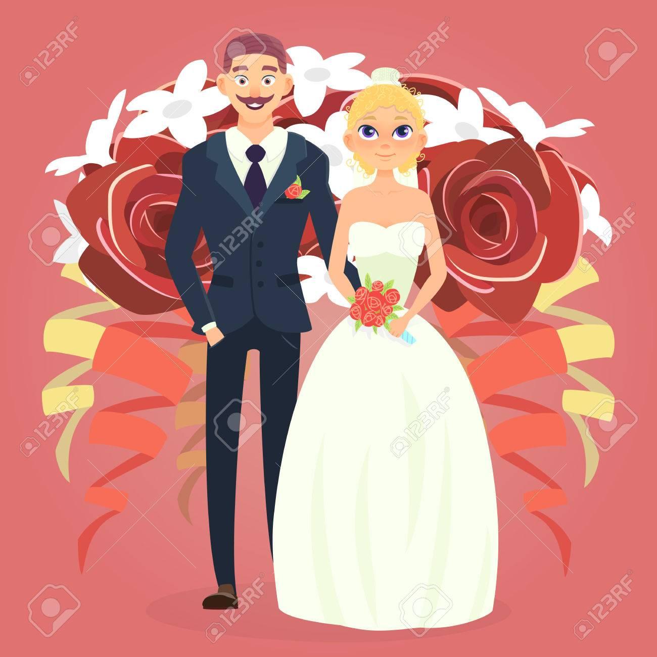 Couple De Mariage Dessin Anime Mignon Couple De Mariage Avec