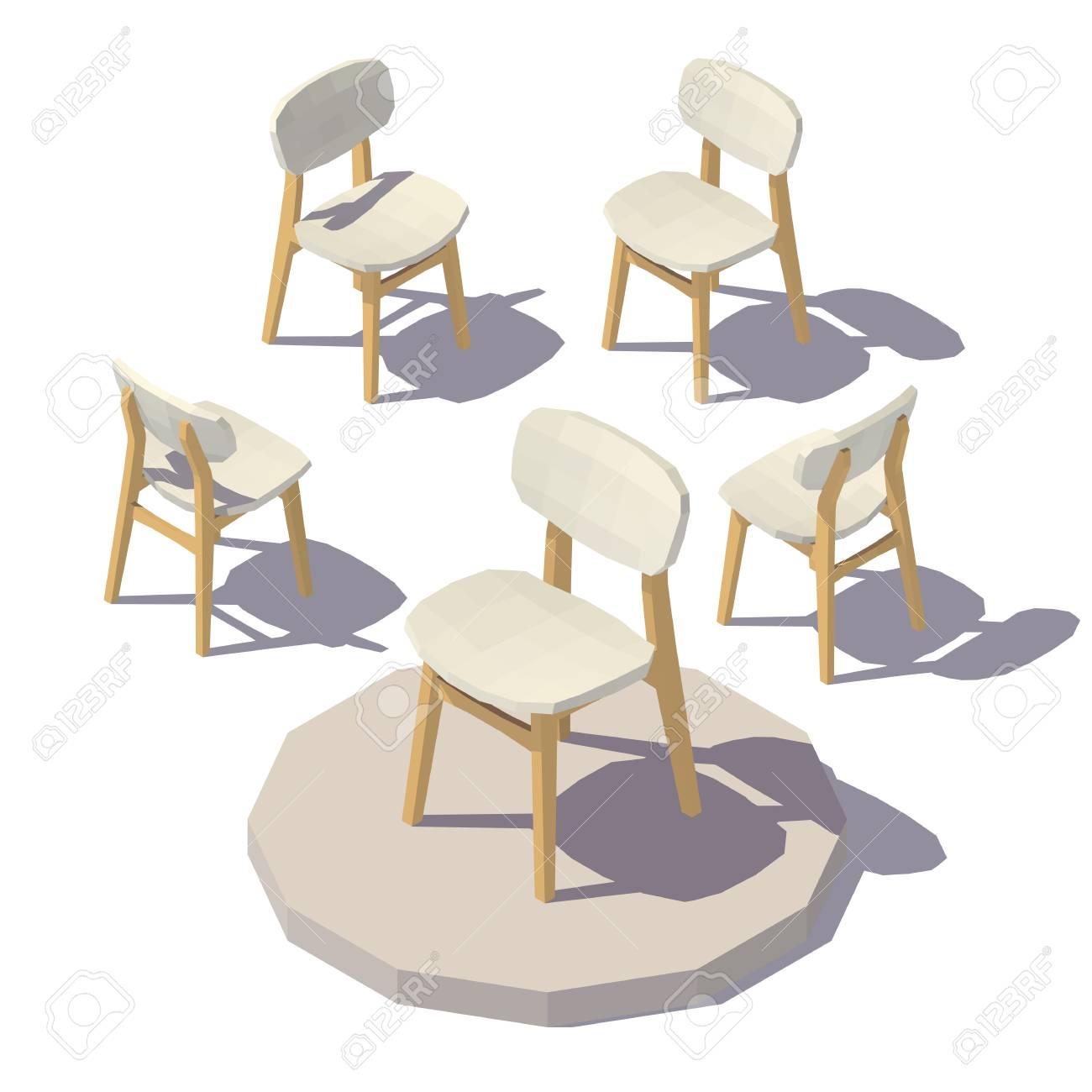 Chaise Designer Isometrique Clip Art Libres De Droits Vecteurs Et