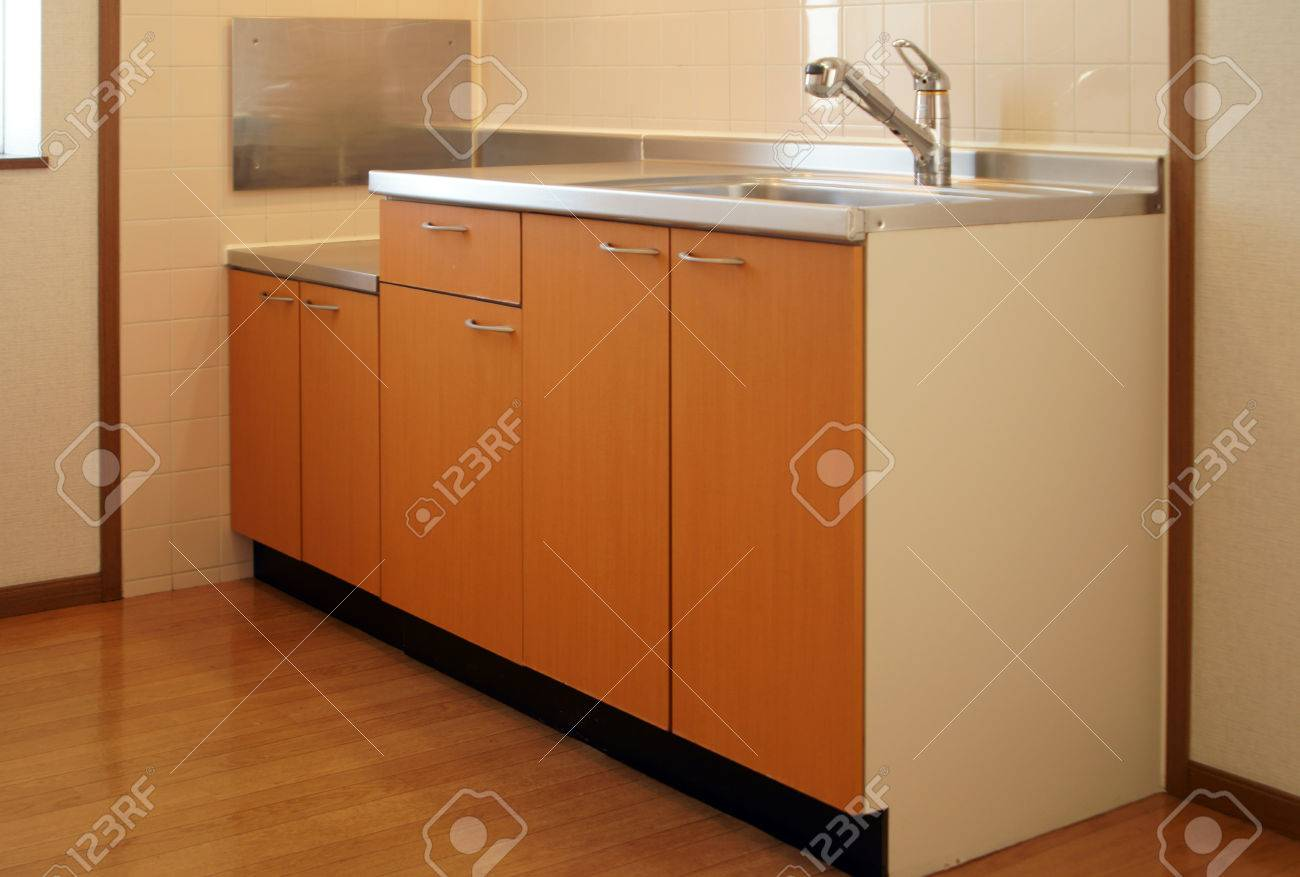 Kitchen In Japanese Apartment For Rent Stock Photo Picture And