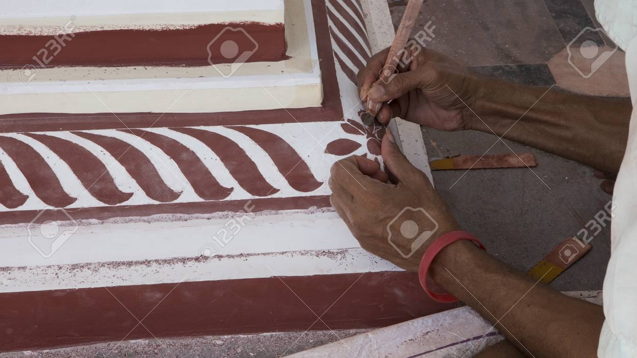Temple reconstruction painting  Indian master painting Temple
