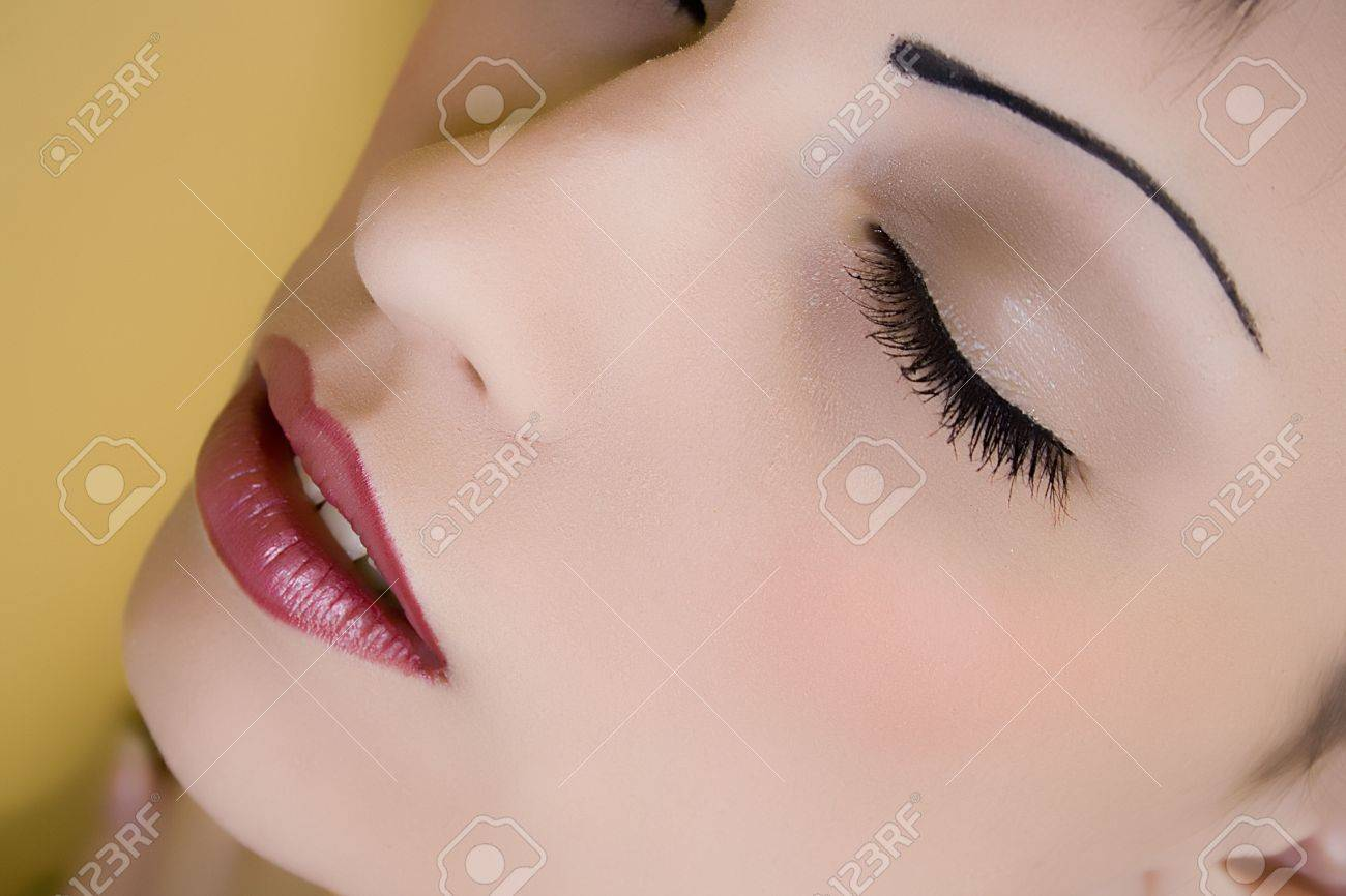 Up close of a woman's face Stock Photo - 2455241