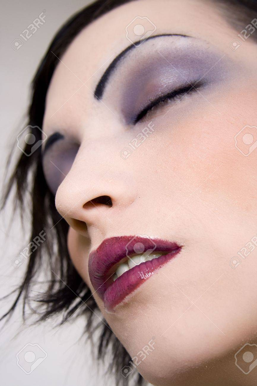Young woman with beautiful cosmetics. Stock Photo - 2455204