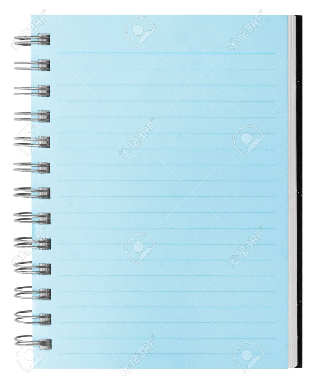 blank background. paper spiral notebook isolated on white Stock Photo - 5481136