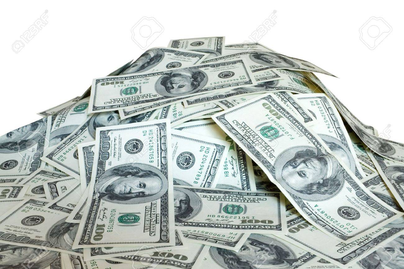 Big Pile Of The Money. Dollars Usa Stock Photo, Picture And Royalty Free  Image. Image 5756769.