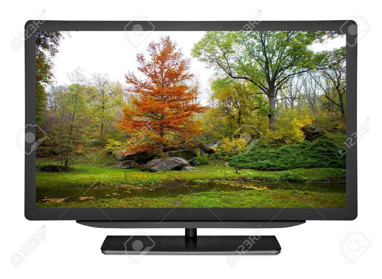 Fernseher Hintergrund flachen fernseher auf den weißen hintergrund lizenzfreie fotos