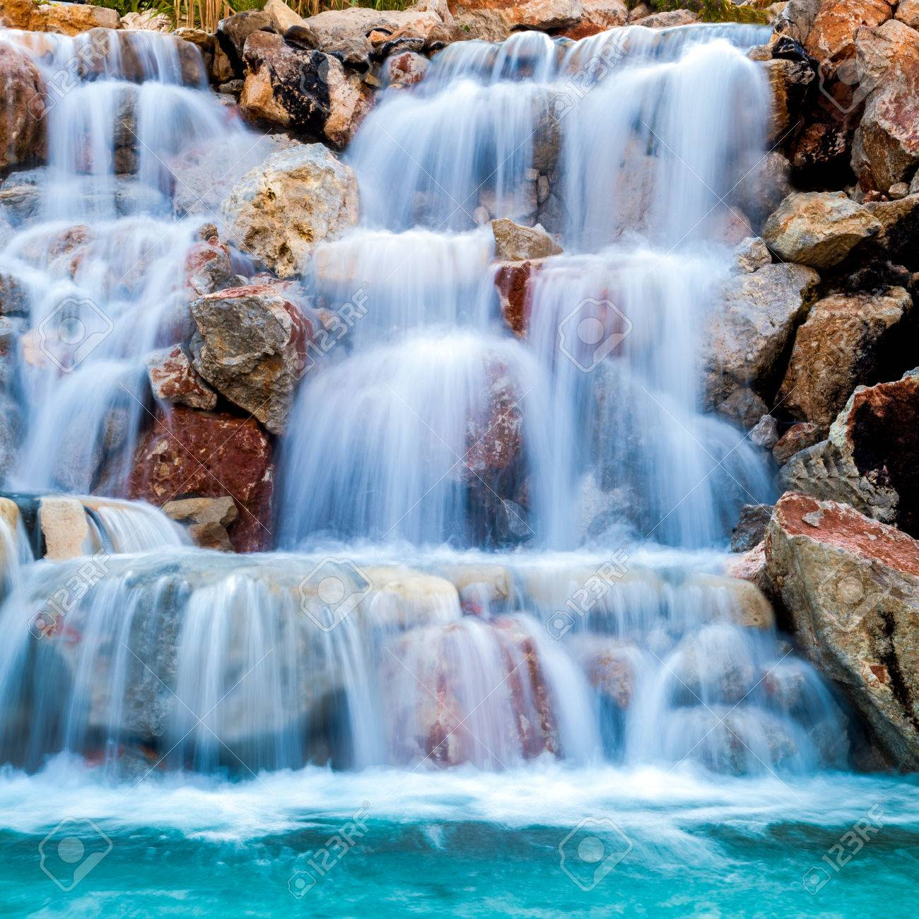 Waterfall Beautiful Background Of Stone Water Moss Stock Photo Picture And Royalty Free Image Image 36064006