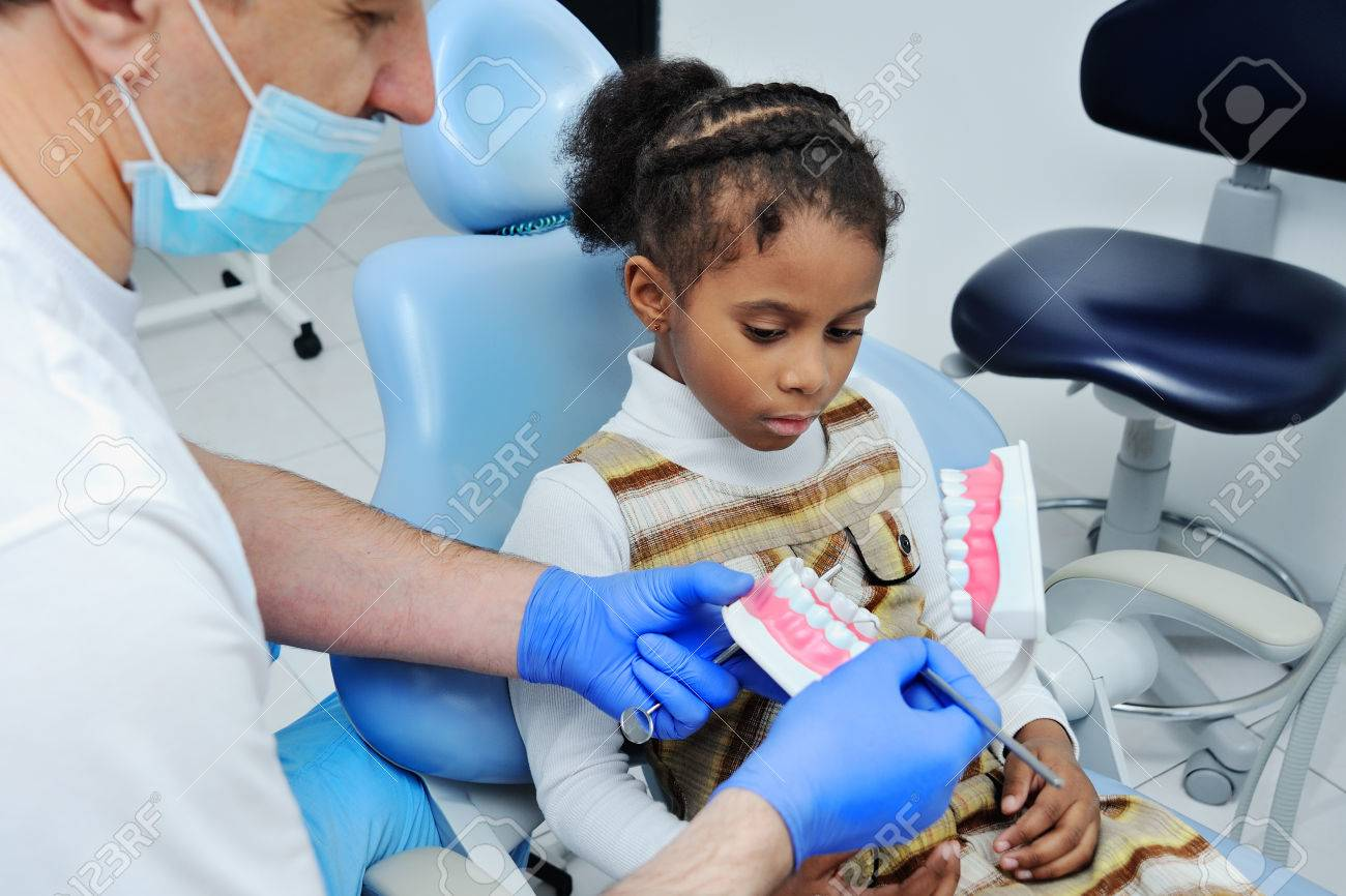 Dentist Tells African Girl Child How To Properly Brush Their Teeth Oral Hygiene