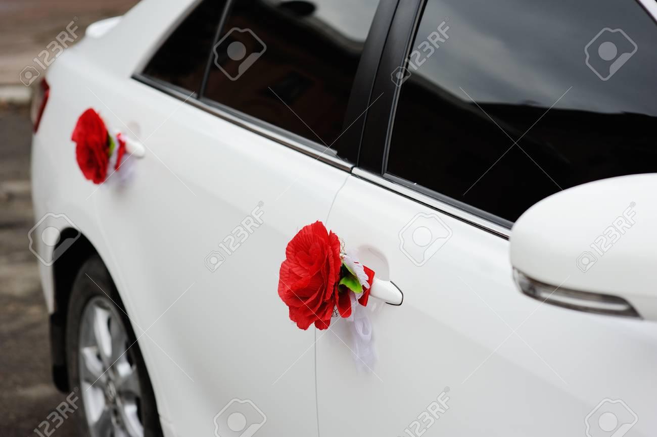 Beautiful Decorations For A Wedding Car Wedding Organization Stock
