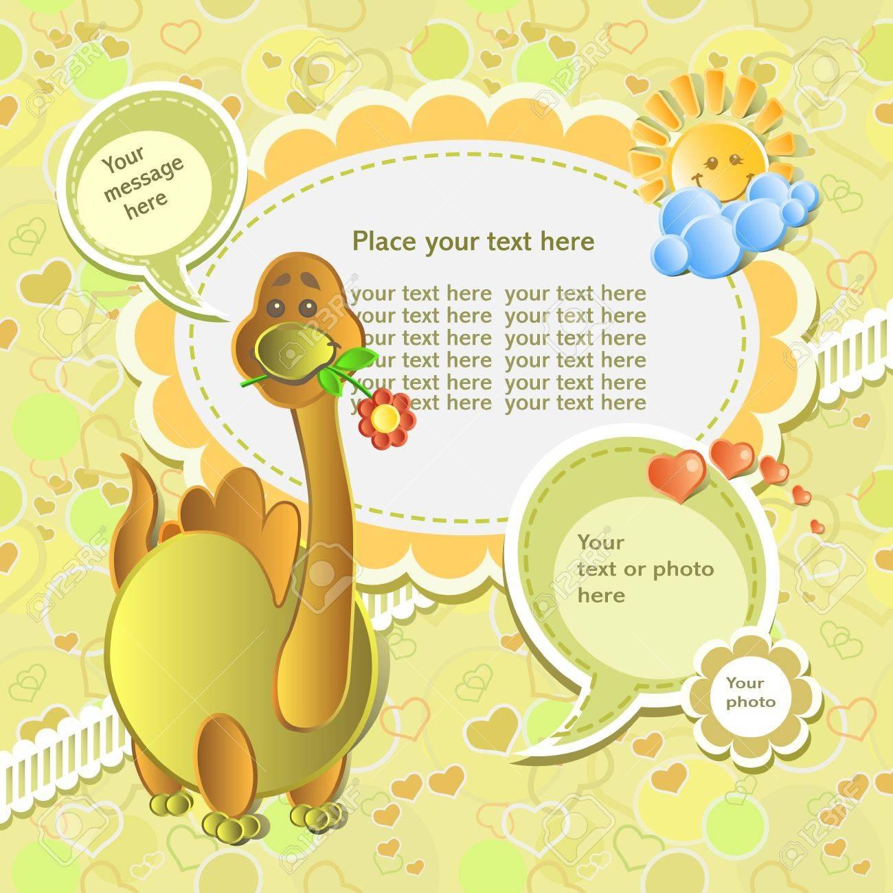 Vector baby card with scrapbook elements Stock Vector - 12353397