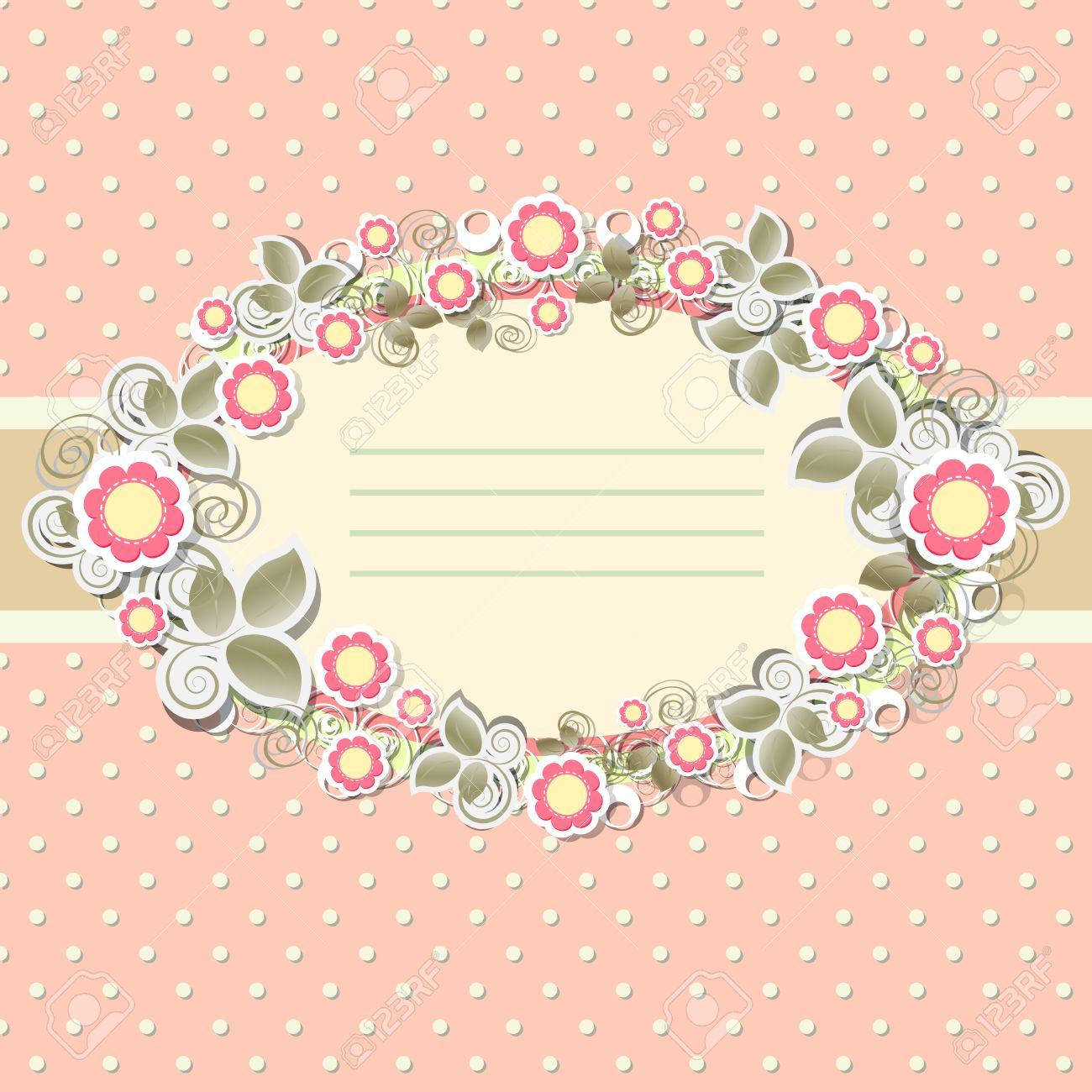 Floral vintage background - Floral Background In Vintage Stile Stock Vector 12802713