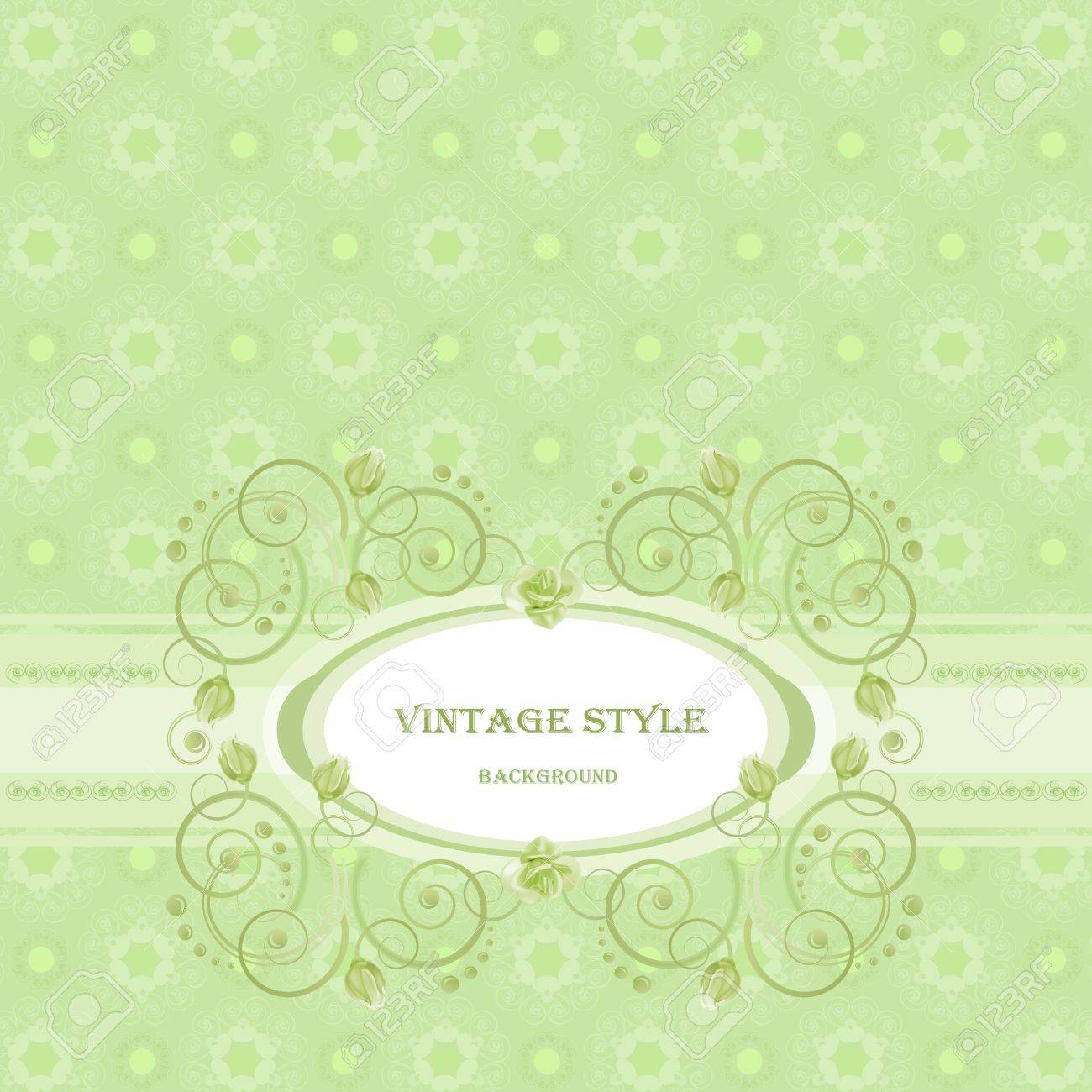 Vintage frame in green tones. Stock Vector - 12802772
