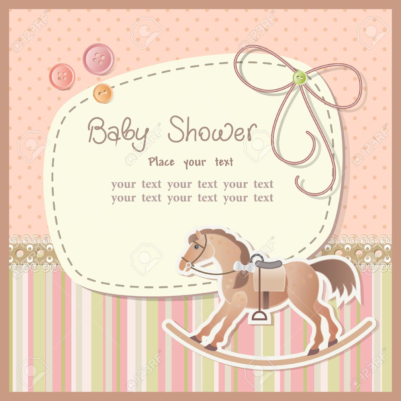 Baby shower for boy with scrapbook elements Stock Vector - 13143453