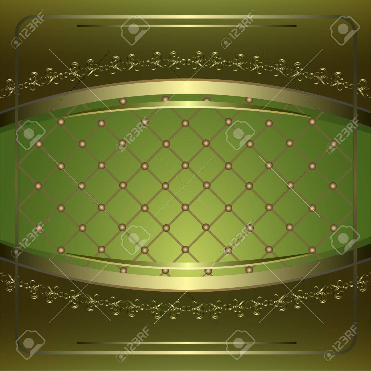 Vintage background with golden patterns. Stock Vector - 13913222