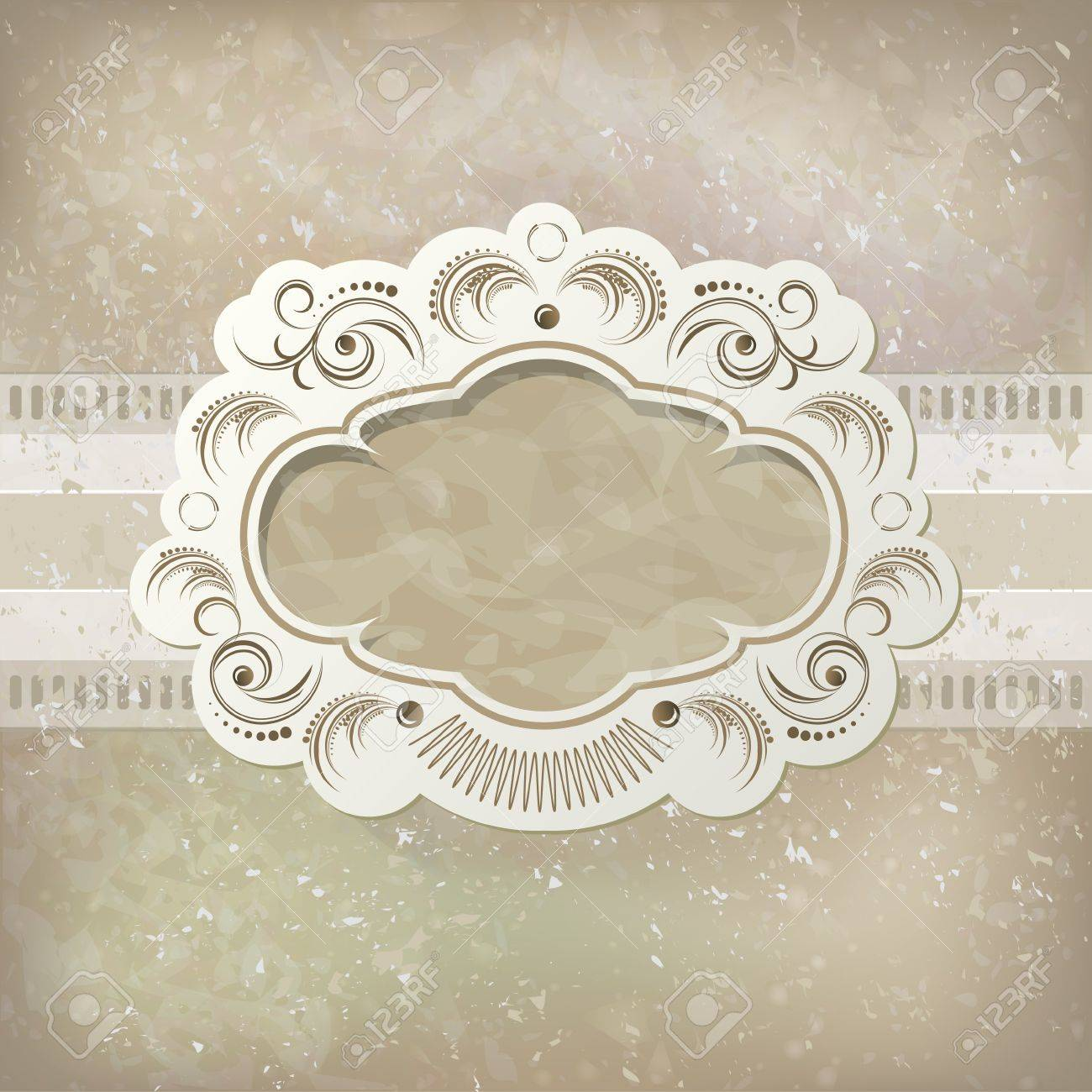 Vintage vector background and frame Stock Vector - 14239489