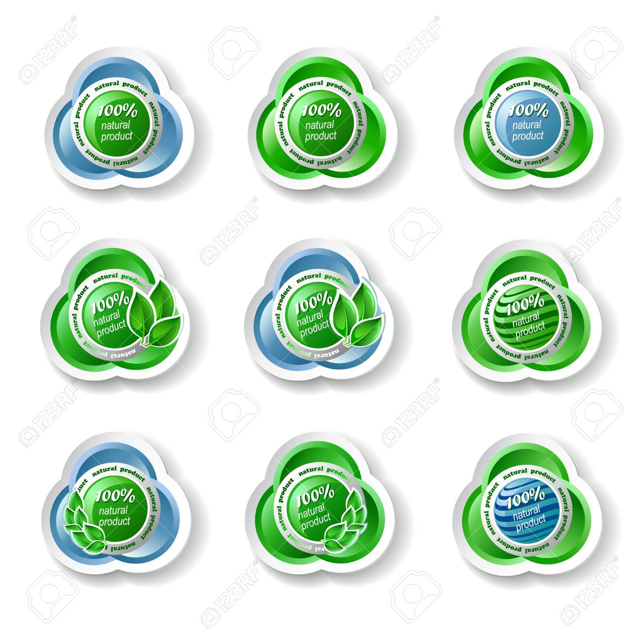 Set of ecology icons on the white background Stock Vector - 15206385