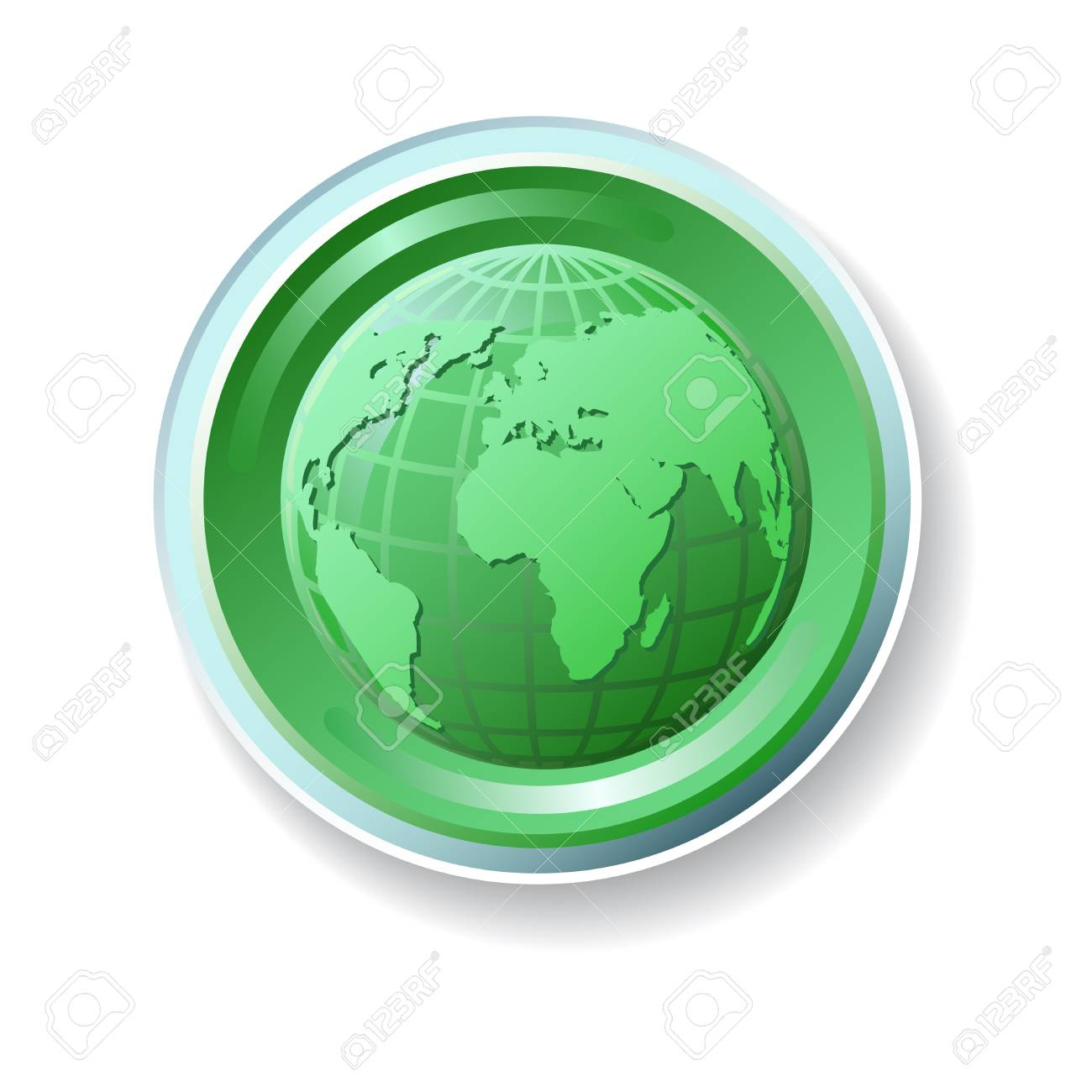 Ecology icon with globe Stock Vector - 15012081