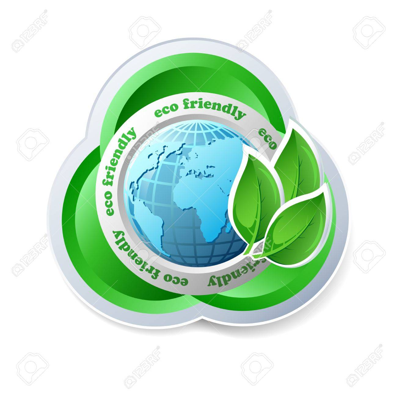 Ecology concept icon with globe - 15085044
