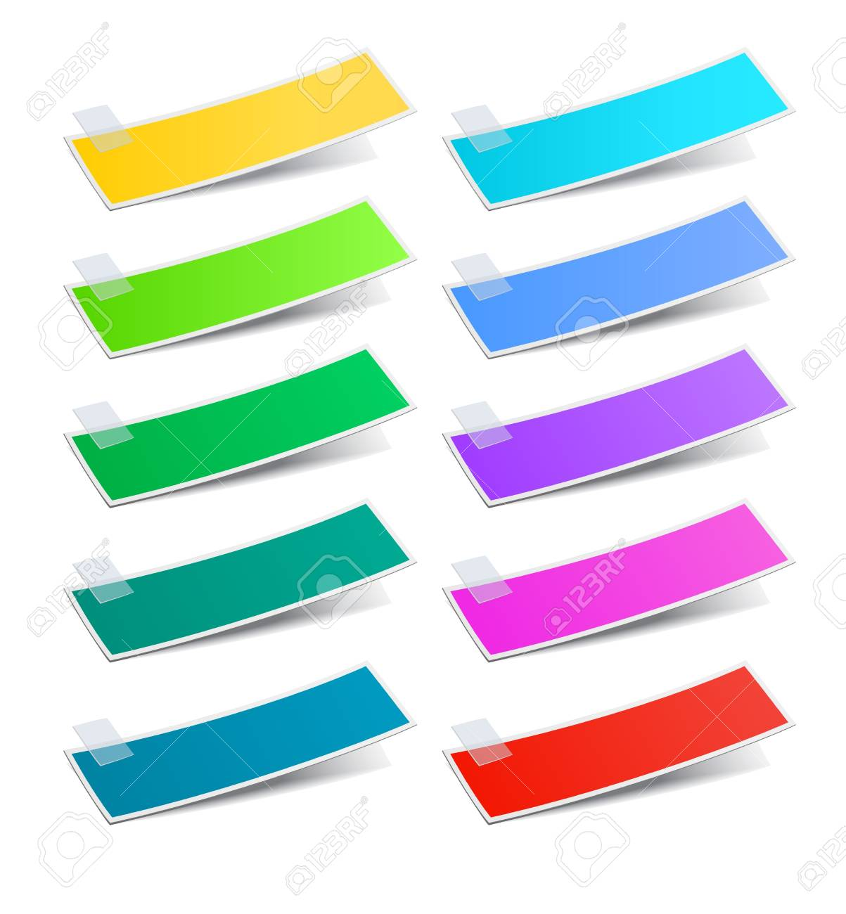 Colorful stickers set, vector illustration Stock Vector - 17777161