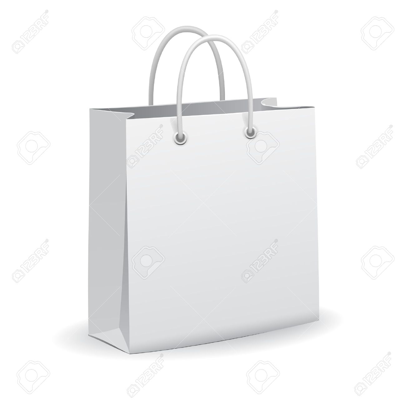 White Empty Paper Shopping Bag, Vector Royalty Free Cliparts ...
