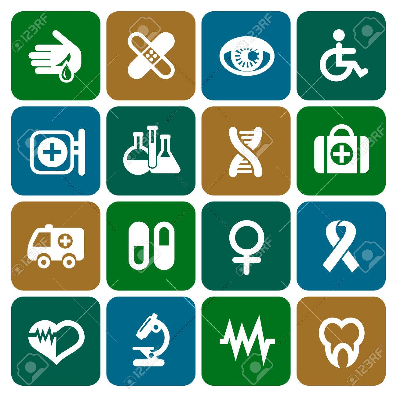 Set of medical icons in flat design, vector illustration Stock Vector - 25125906