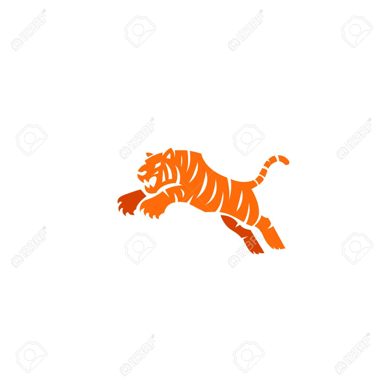 animal tiger logo icon vector illustration template vector royalty free cliparts vectors and stock illustration image 105516467 animal tiger logo icon vector illustration template vector