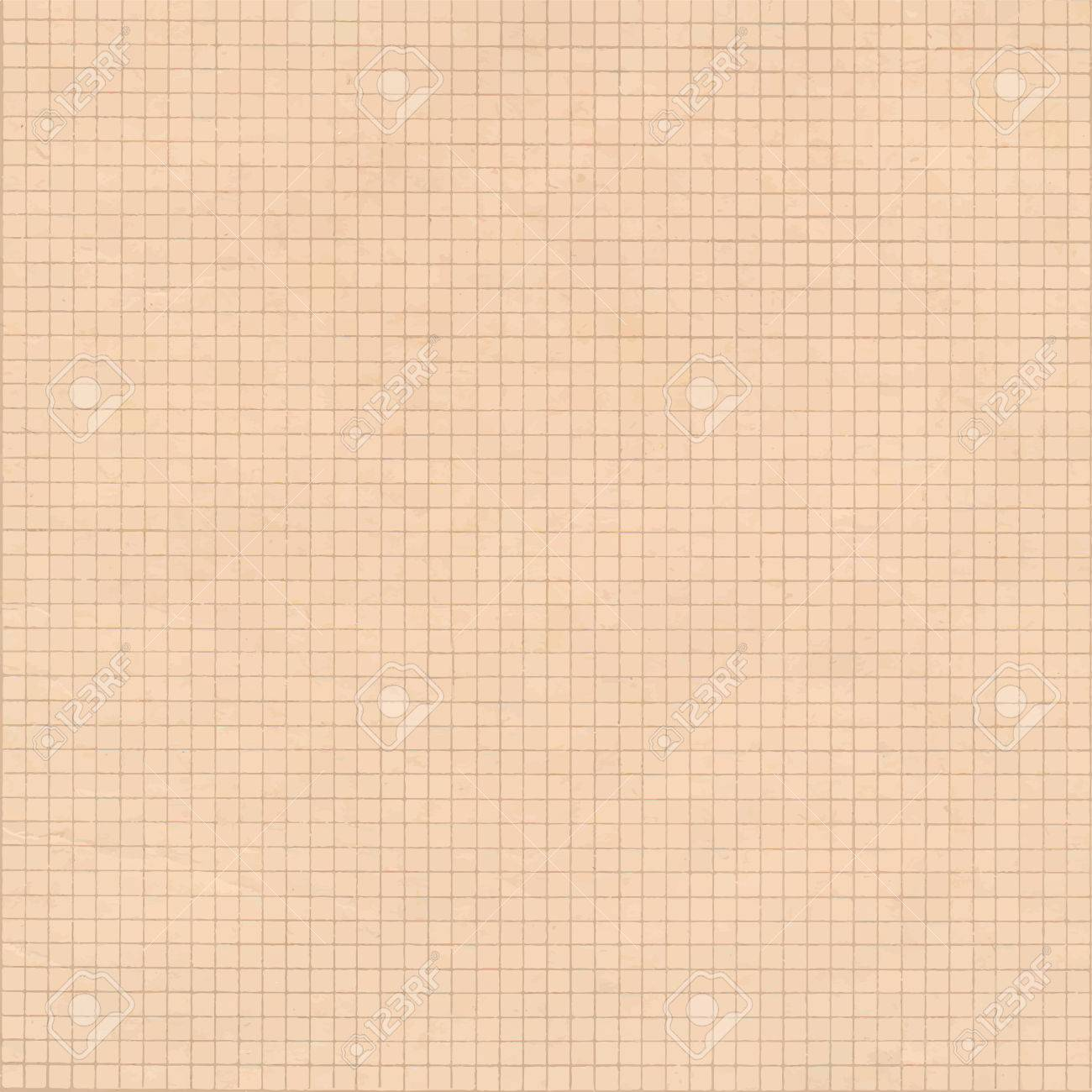 old sepia graph paper square grid background royalty free cliparts