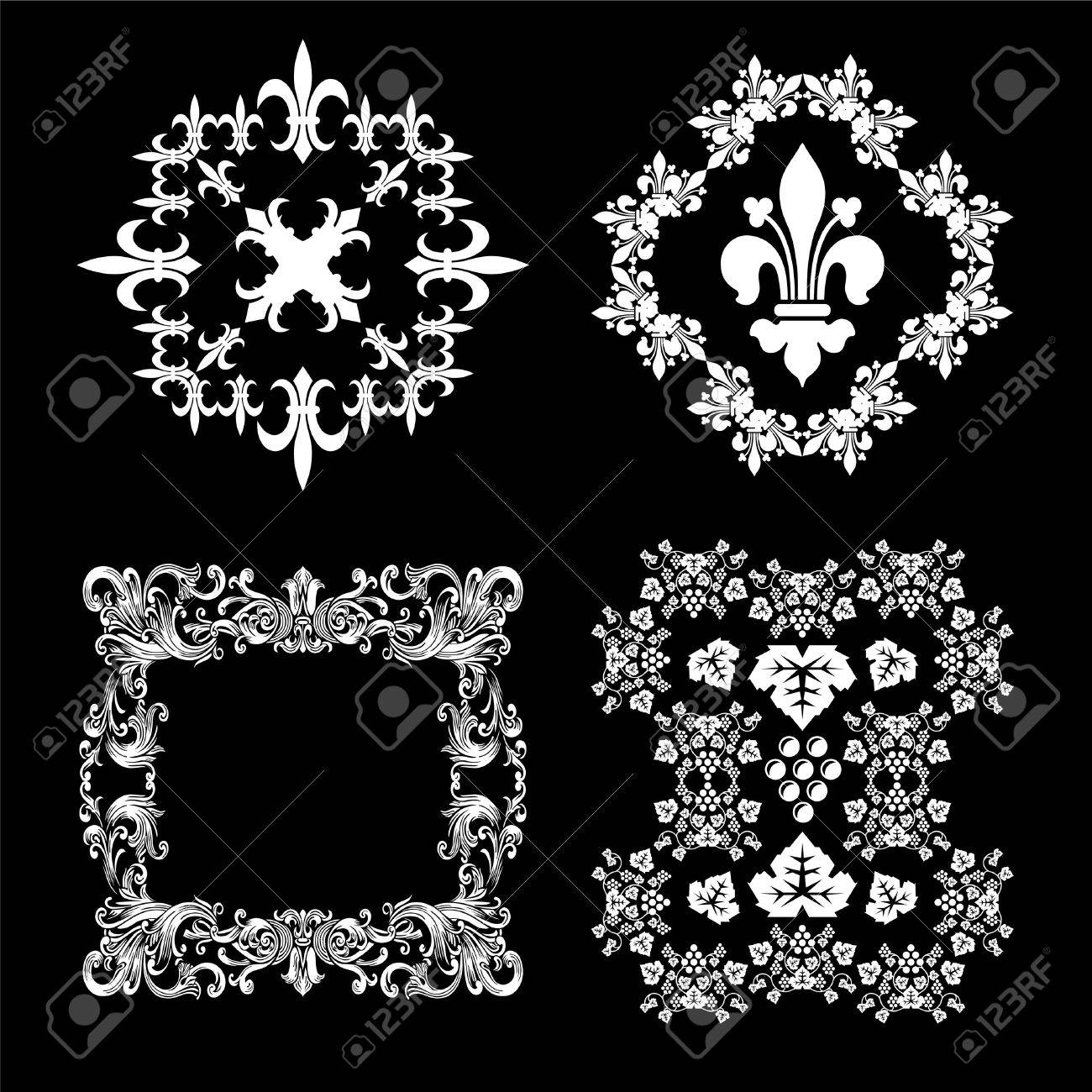Vintage Decorations set Stock Vector - 9995065