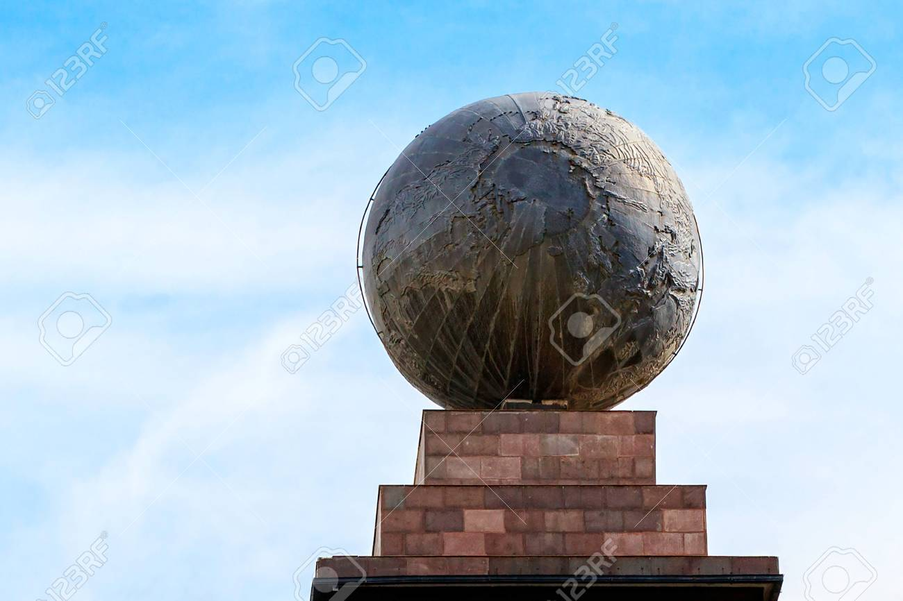 Zentrum Der Welt Mitad Del Mundo Dem äquator Südamerika