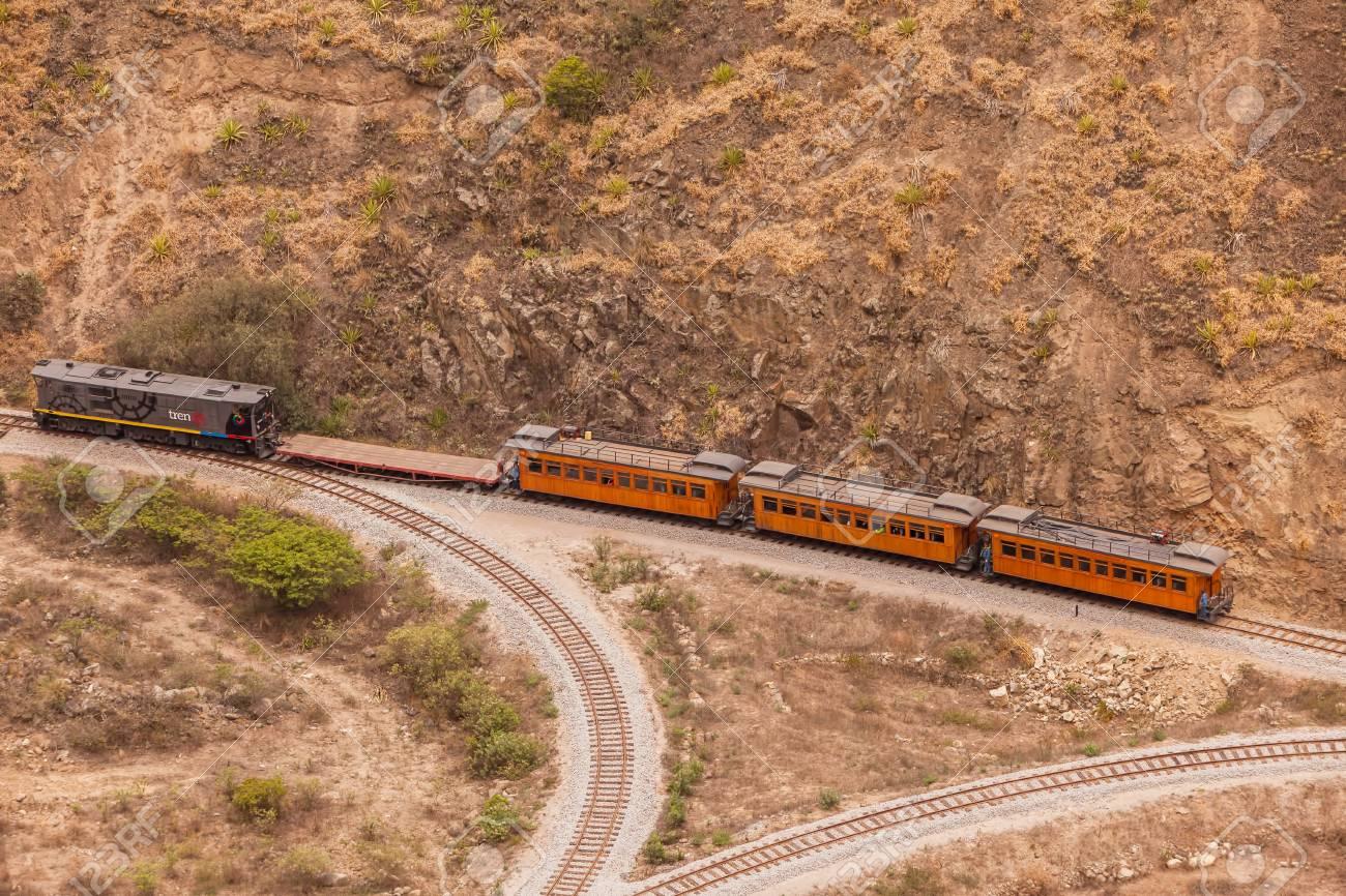 Alausi, Ecuador - 08 December 2011: Train Ride In South America,