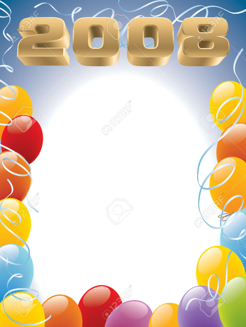 New Year 2008 decoration ready for posters Stock Vector - 1326248