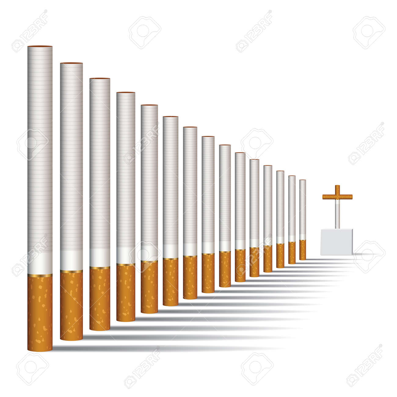 Cigarettes alley and a grave, vector Stock Vector - 1397379
