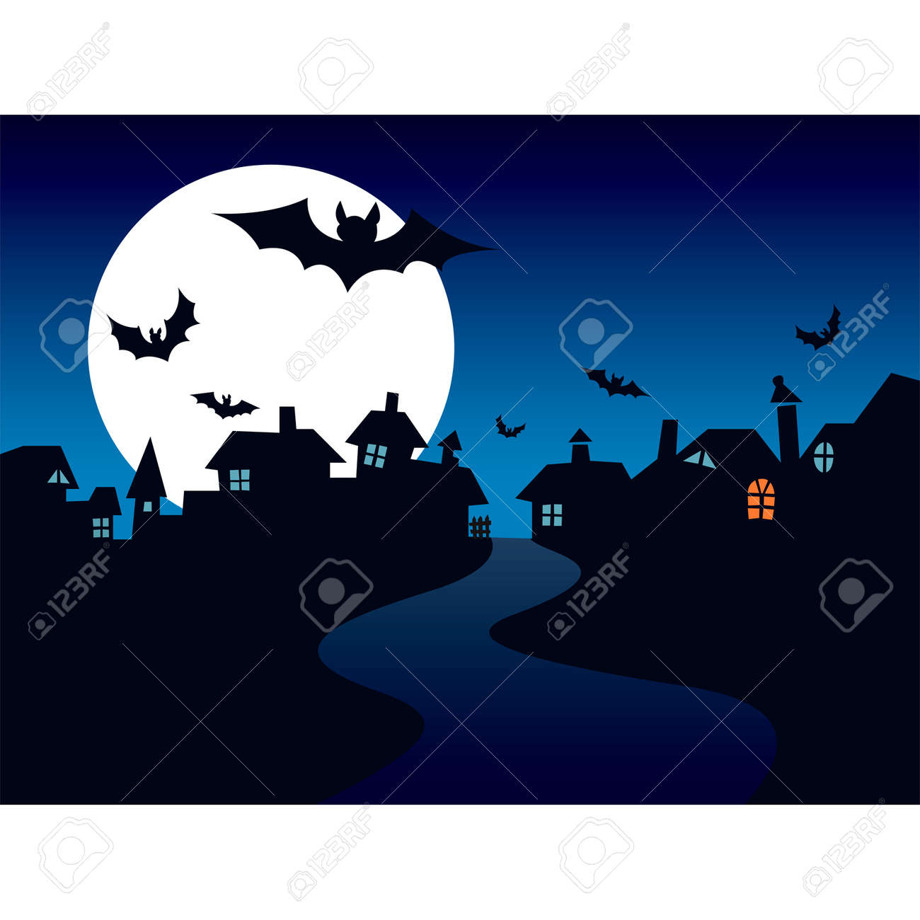 halloween town, vector royalty free cliparts, vectors, and stock