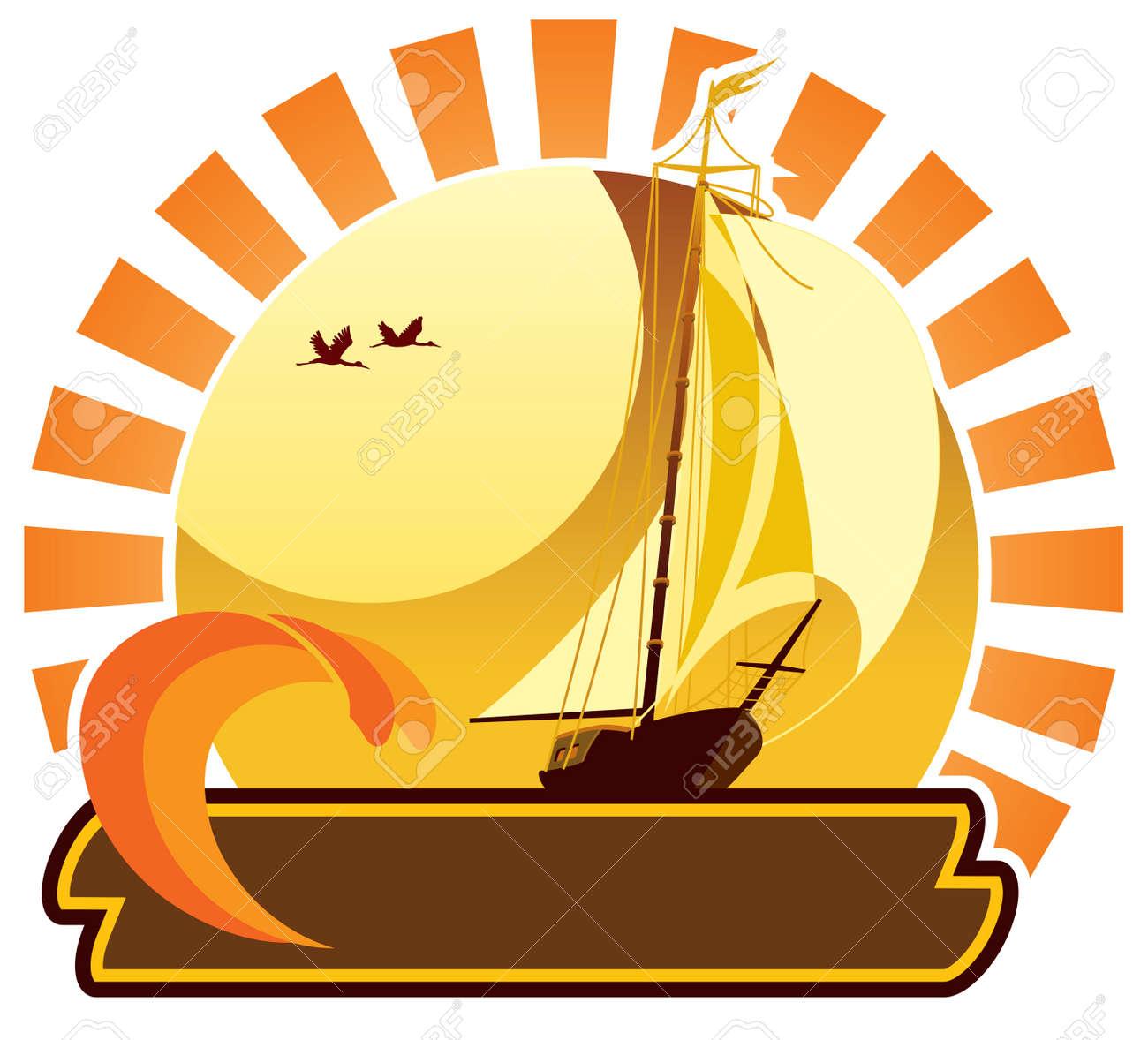 Summer icon - yacht Stock Vector - 3186246