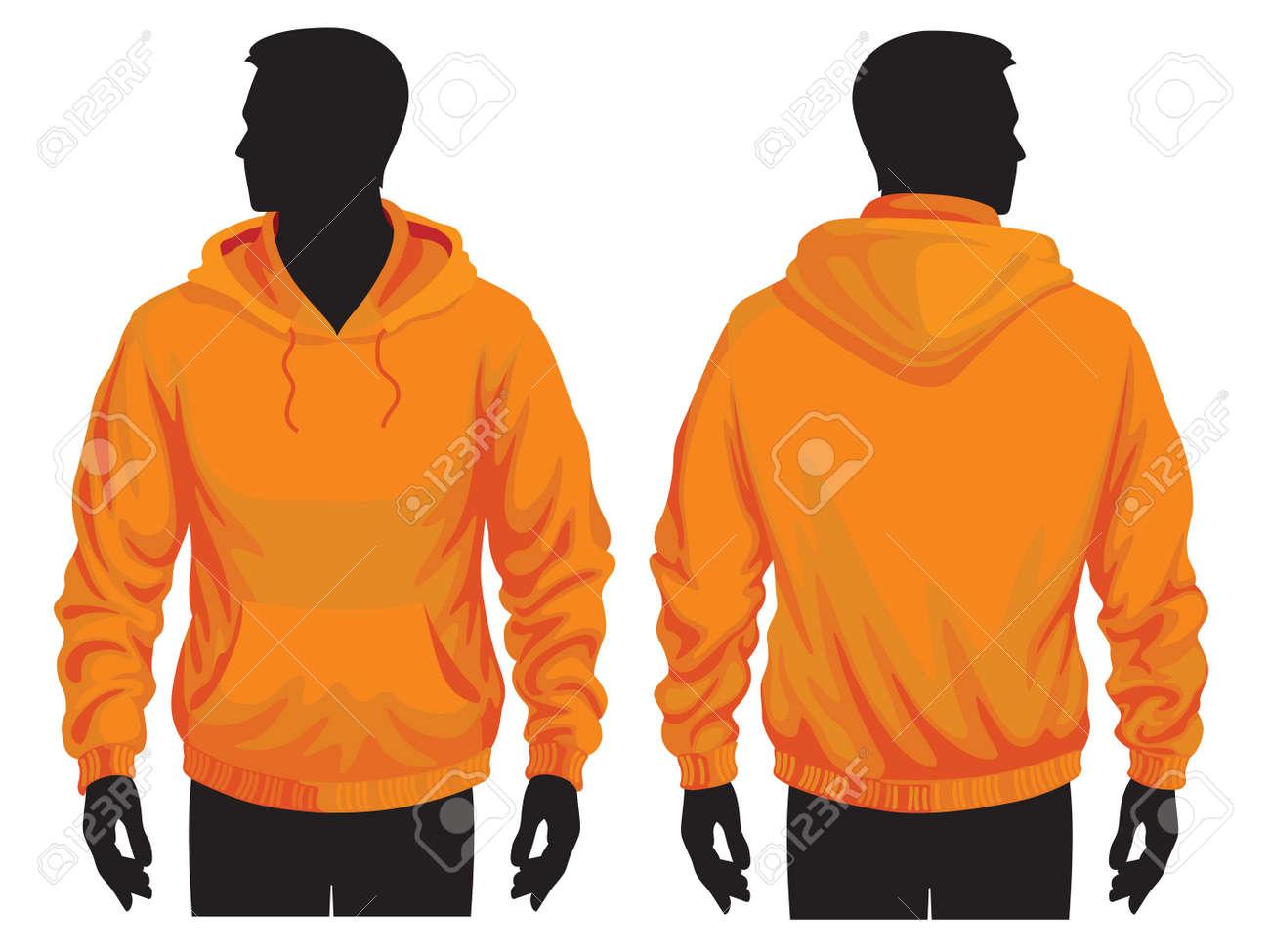 Men\'s Sweatshirt Vorlage Mit Menschlichen Körpers Silhouette ...